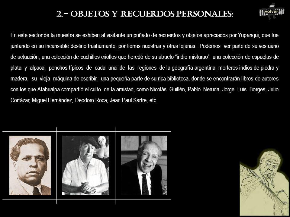2.- OBJETOS Y RECUERDOS PERSONALES: