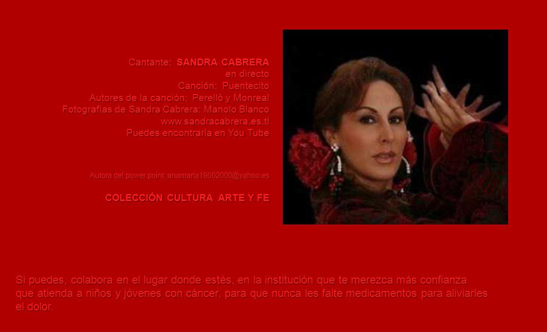 Cantante: SANDRA CABRERA