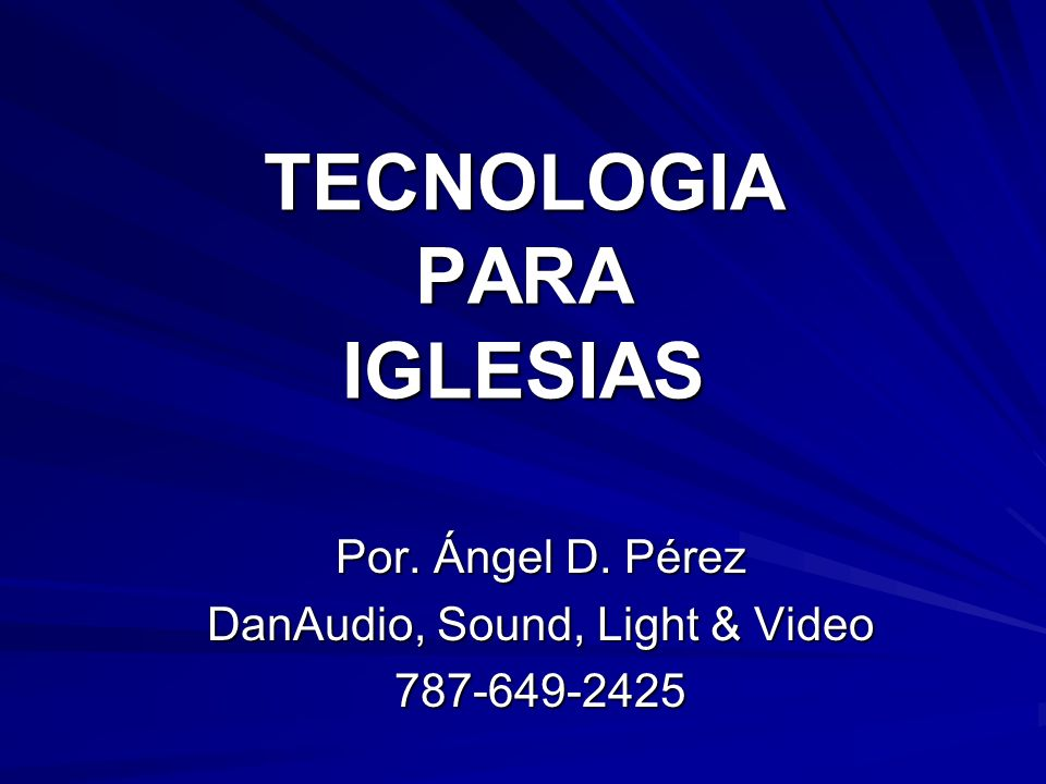 TECNOLOGIA PARA IGLESIAS