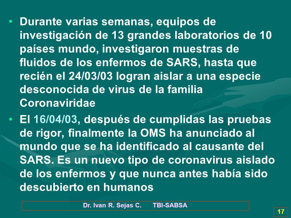 Dr. Ivan R. Sejas C. TBI-SABSA