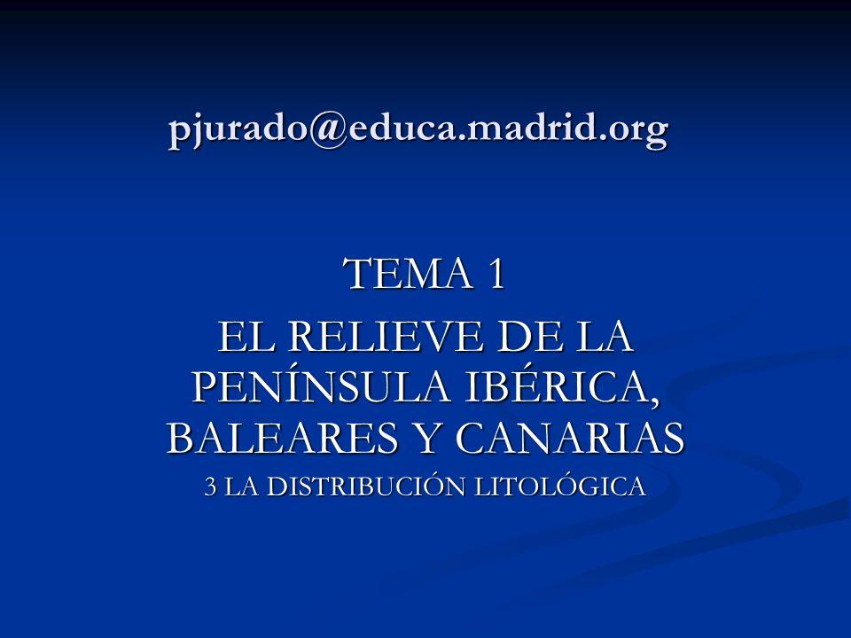 EL RELIEVE DE LA PENÍNSULA IBÉRICA, BALEARES Y CANARIAS