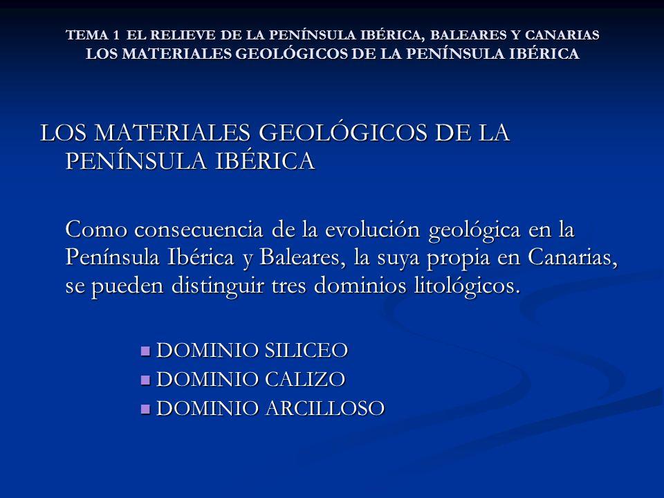 LOS MATERIALES GEOLÓGICOS DE LA PENÍNSULA IBÉRICA