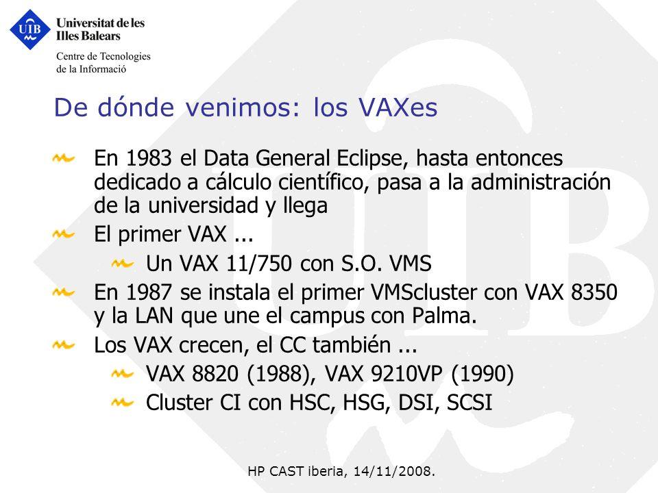 De dónde venimos: los VAXes