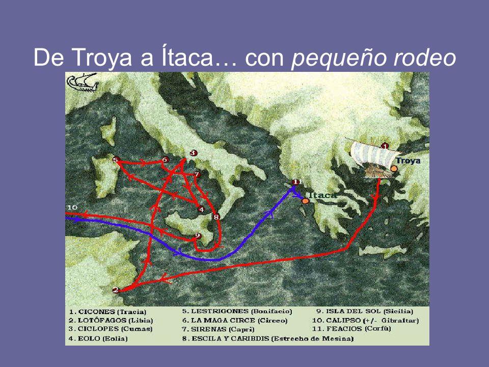 De Troya a Ítaca… con pequeño rodeo