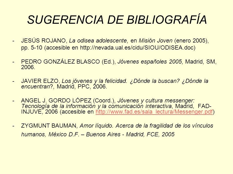SUGERENCIA DE BIBLIOGRAFÍA