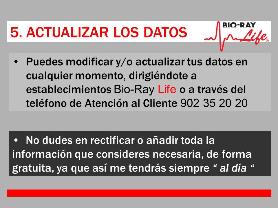 5. ACTUALIZAR LOS DATOS