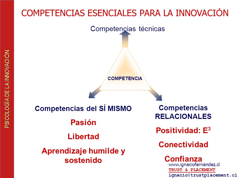 COMPETENCIAS ESENCIALES PARA LA INNOVACIÓN