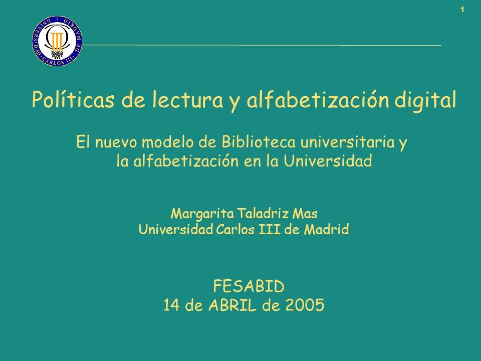 Políticas de lectura y alfabetización digital