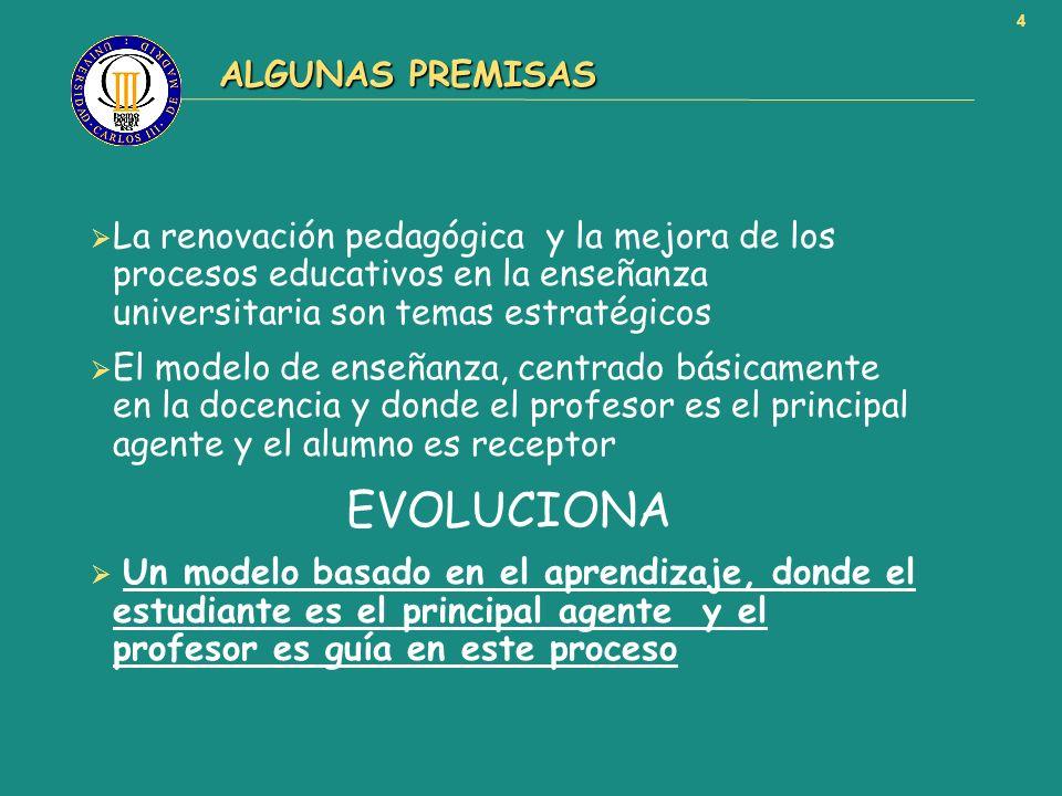 EVOLUCIONA ALGUNAS PREMISAS