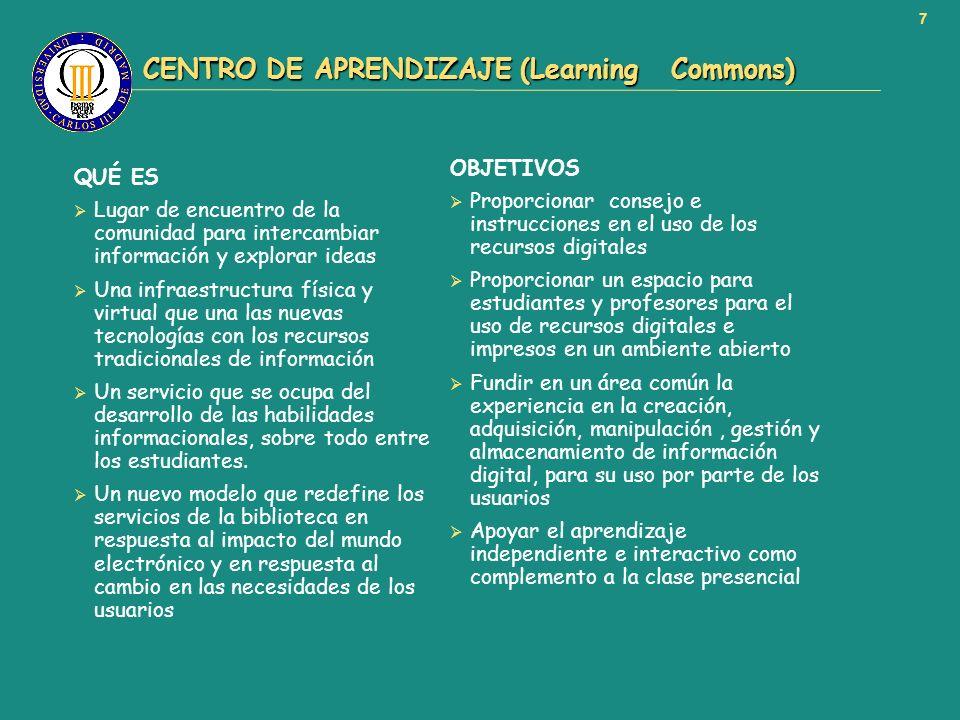 CENTRO DE APRENDIZAJE (Learning Commons)