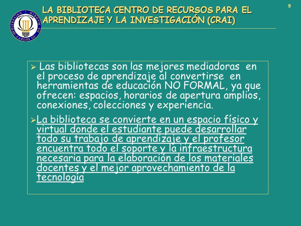 LA BIBLIOTECA CENTRO DE RECURSOS PARA EL APRENDIZAJE Y LA INVESTIGACIÓN (CRAI)