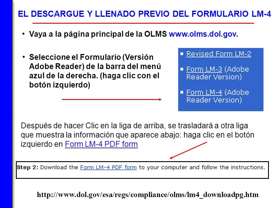 EL DESCARGUE Y LLENADO PREVIO DEL FORMULARIO LM-4