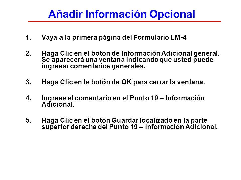 Añadir Información Opcional