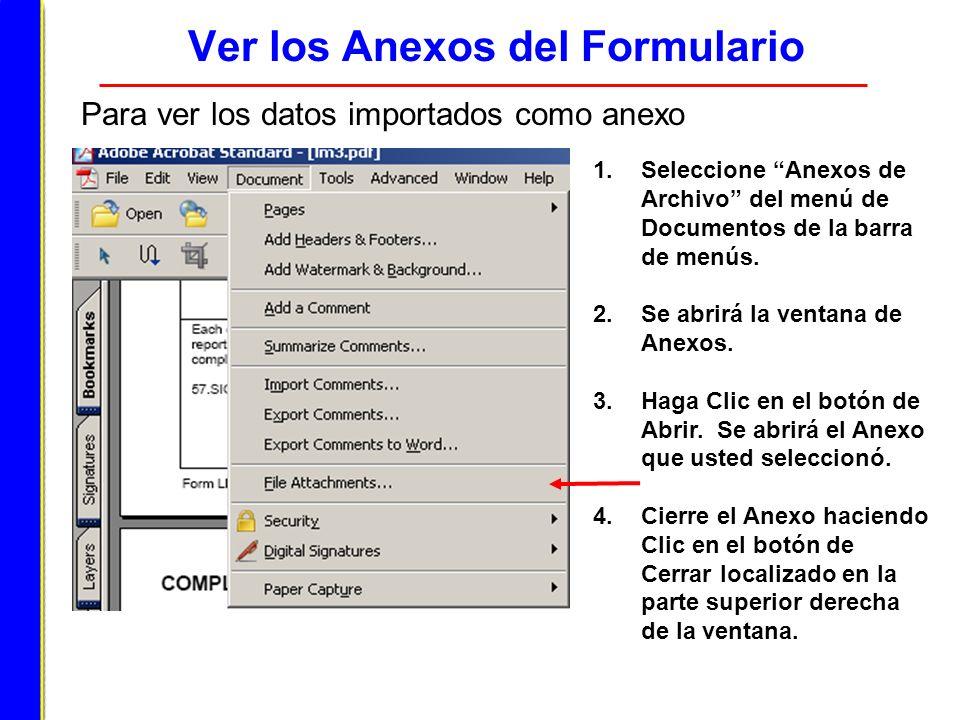 Ver los Anexos del Formulario