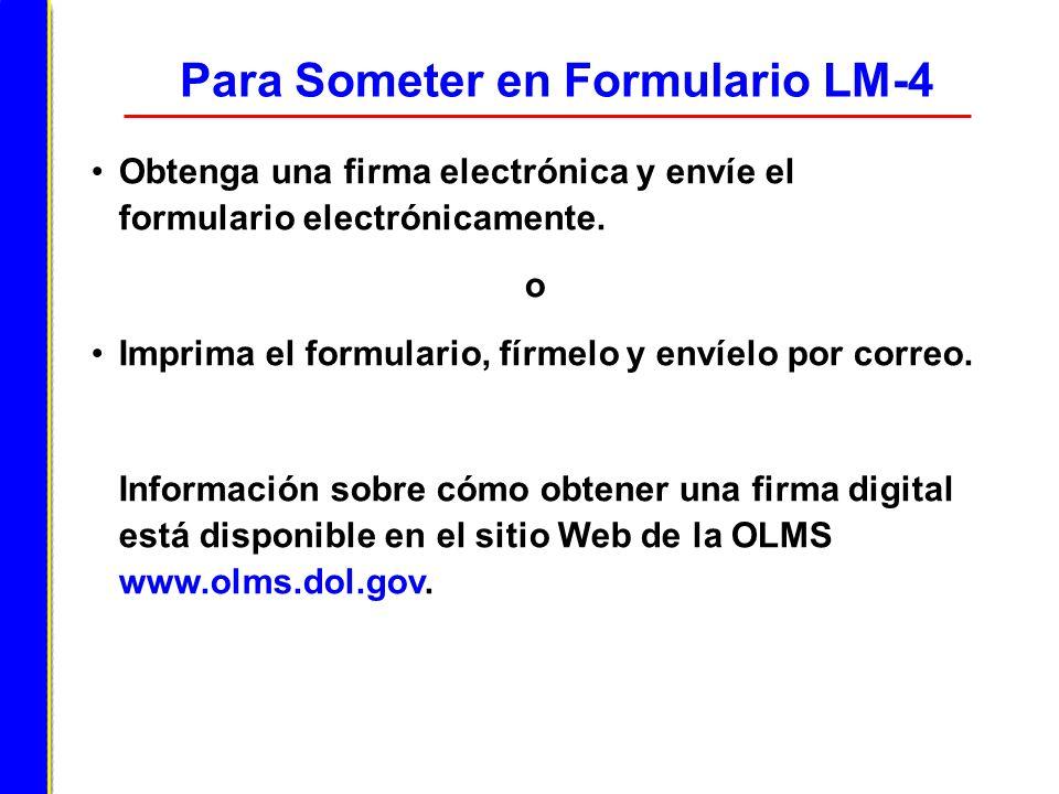 Para Someter en Formulario LM-4