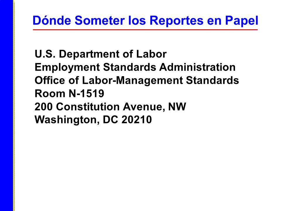 Dónde Someter los Reportes en Papel