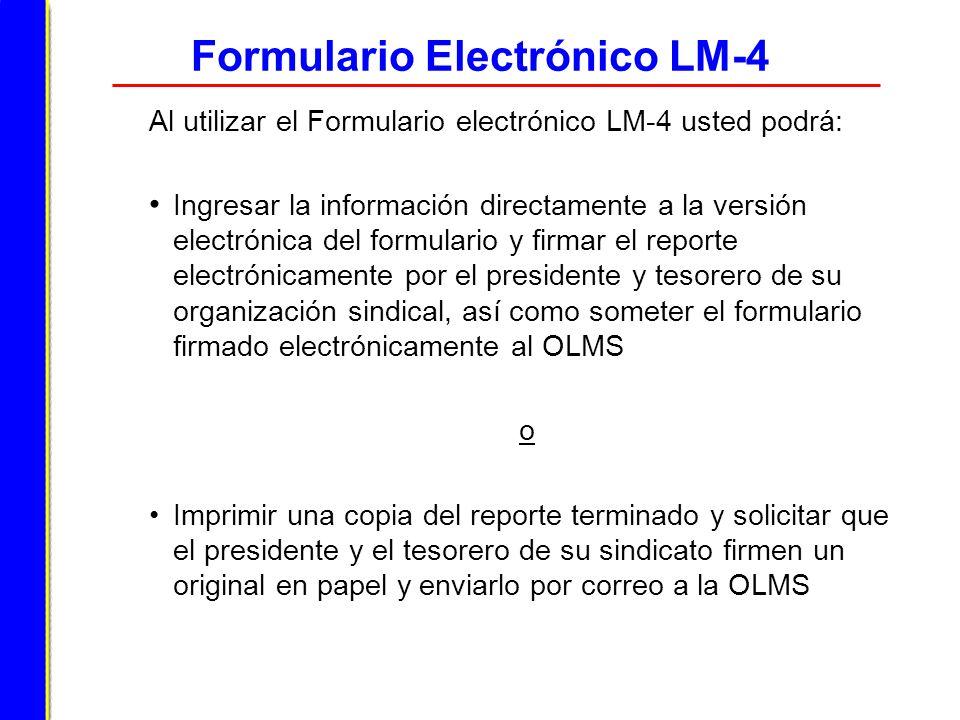 Formulario Electrónico LM-4