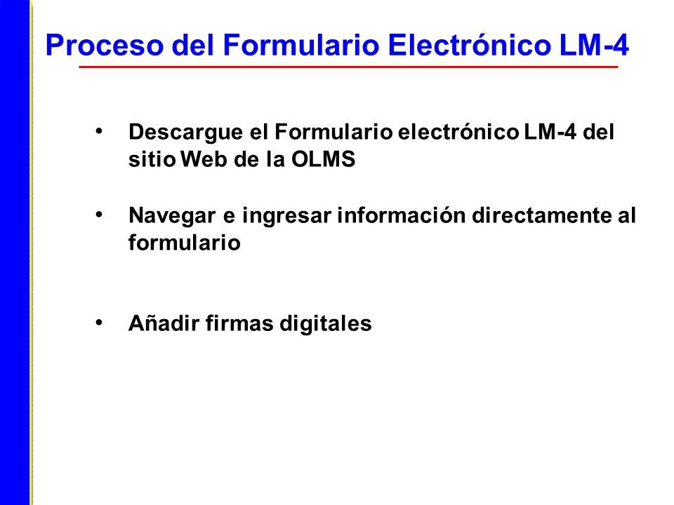 Proceso del Formulario Electrónico LM-4