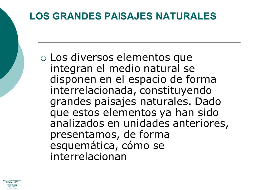 LOS GRANDES PAISAJES NATURALES