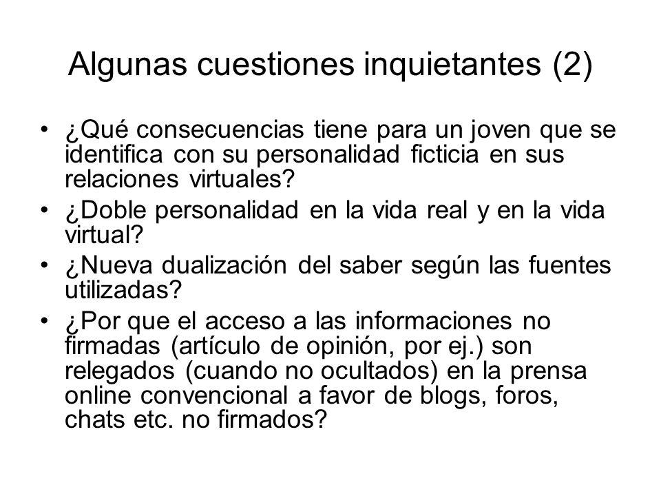 Algunas cuestiones inquietantes (2)