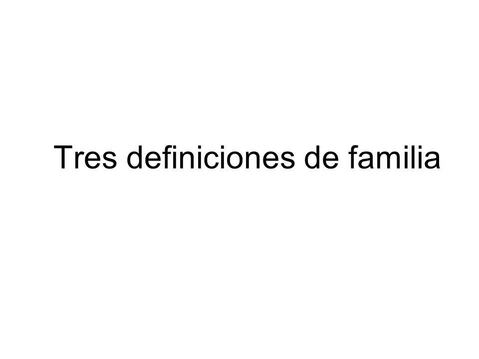 Tres definiciones de familia