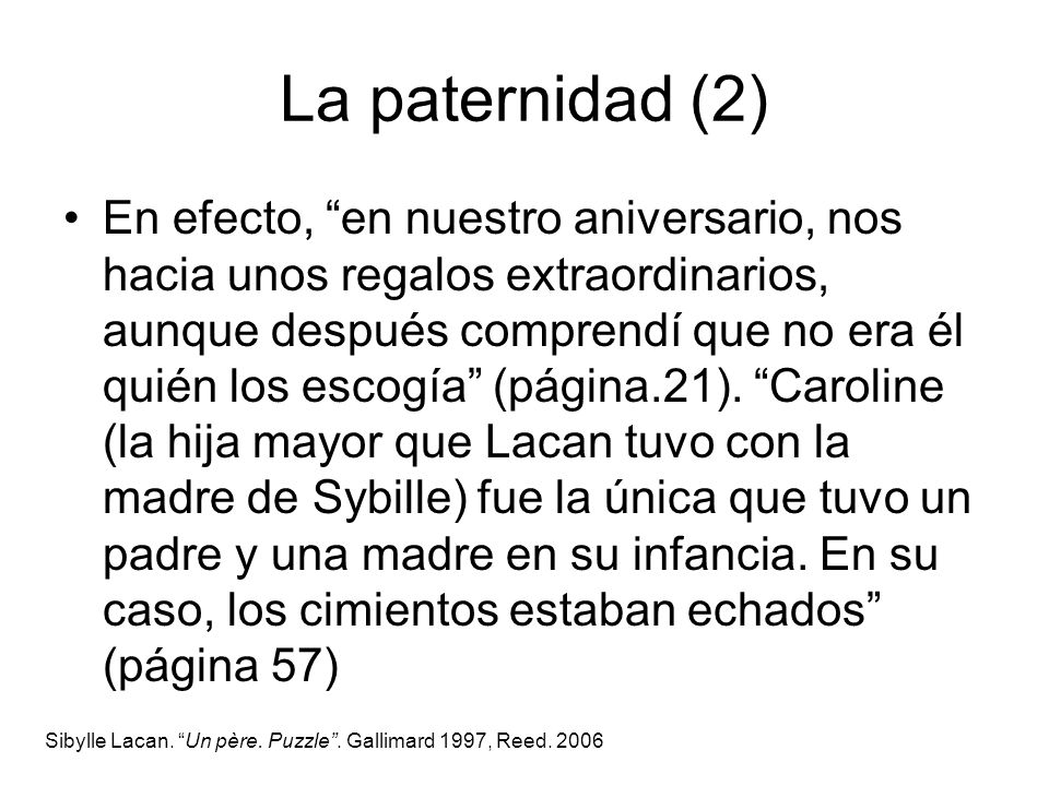 La paternidad (2)