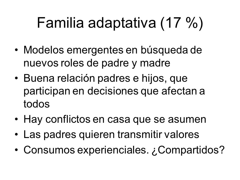 Familia adaptativa (17 %)