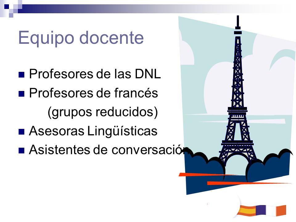 Equipo docente Profesores de las DNL Profesores de francés