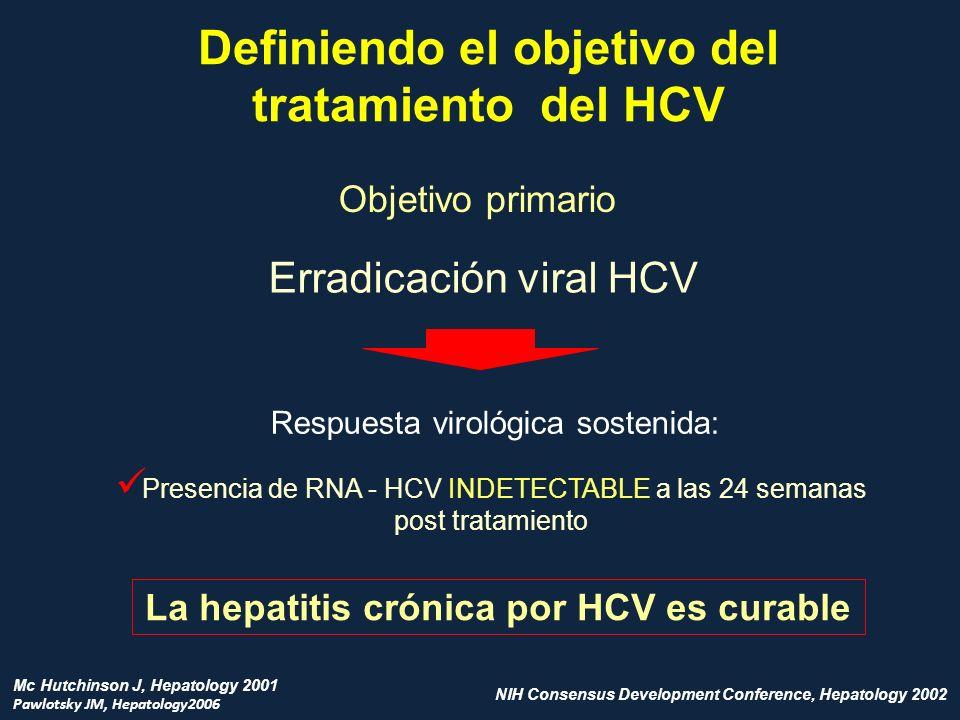Definiendo el objetivo del La hepatitis crónica por HCV es curable