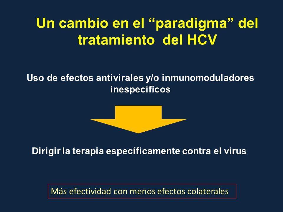 Un cambio en el paradigma del tratamiento del HCV