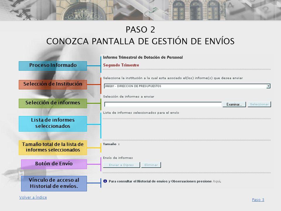 PASO 2 CONOZCA PANTALLA DE GESTIÓN DE ENVÍOS
