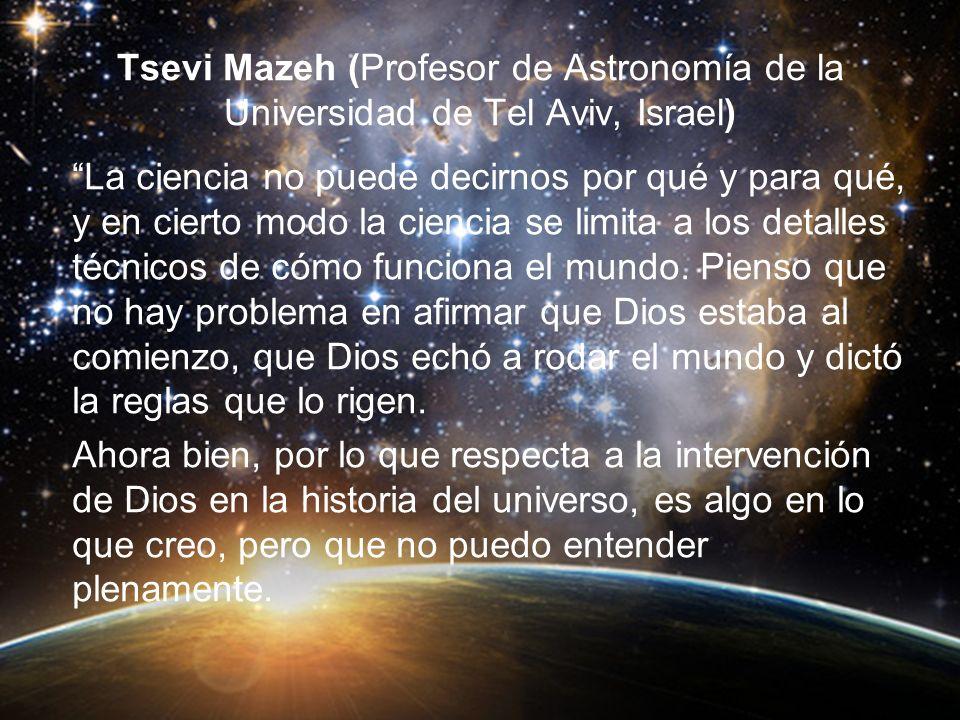 Tsevi Mazeh (Profesor de Astronomía de la Universidad de Tel Aviv, Israel)