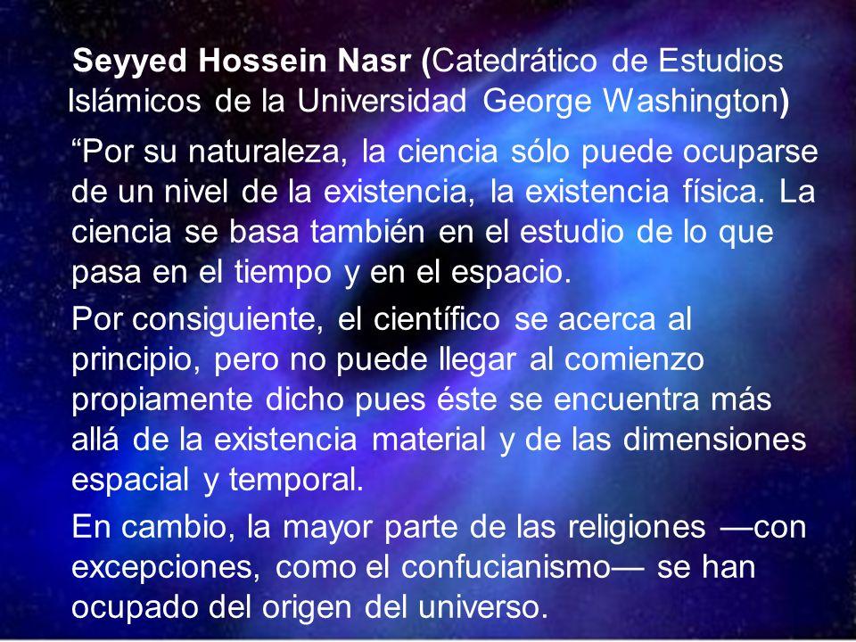Seyyed Hossein Nasr (Catedrático de Estudios Islámicos de la Universidad George Washington)