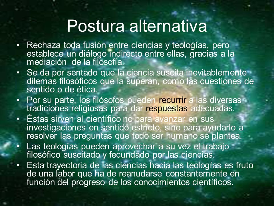 Postura alternativa