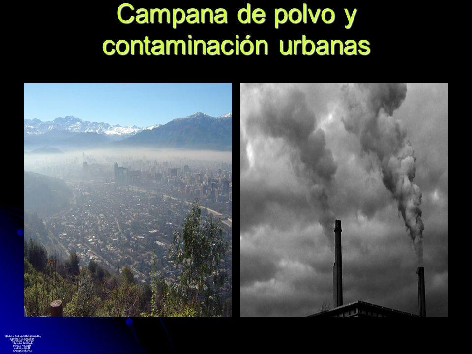 Campana de polvo y contaminación urbanas