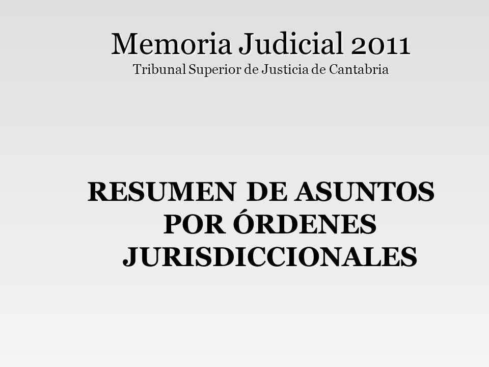 Memoria Judicial 2011 Tribunal Superior de Justicia de Cantabria