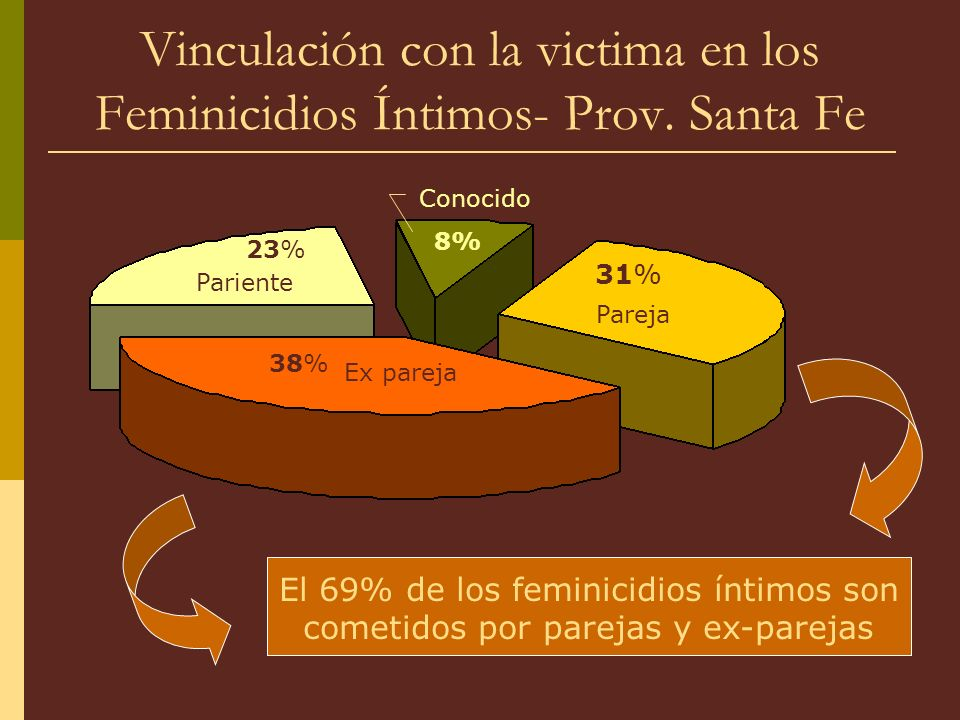 Vinculación con la victima en los Feminicidios Íntimos- Prov. Santa Fe