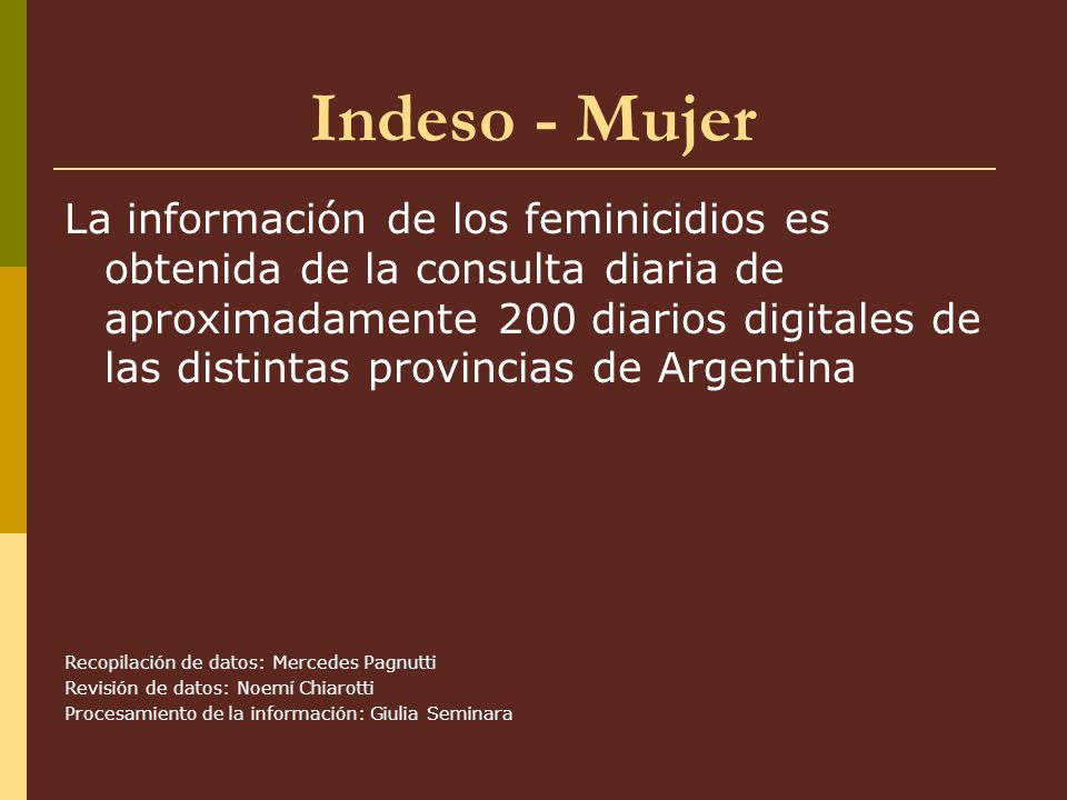 Indeso - Mujer