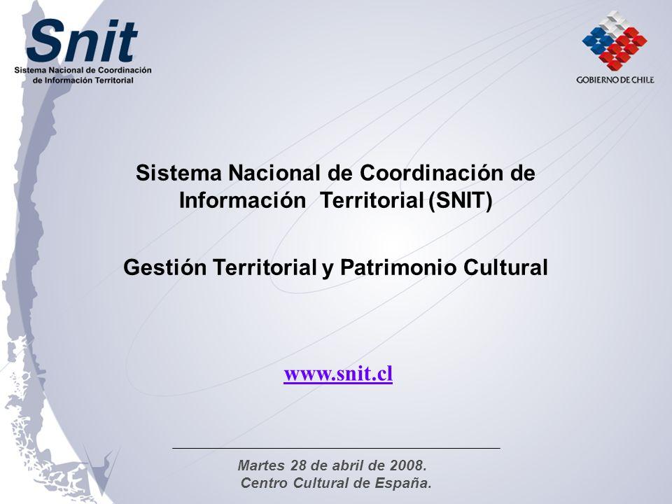 Sistema Nacional de Coordinación de Información Territorial (SNIT)