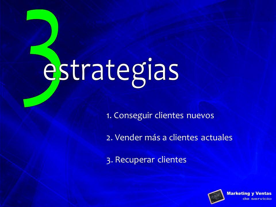 3 estrategias 1. Conseguir clientes nuevos
