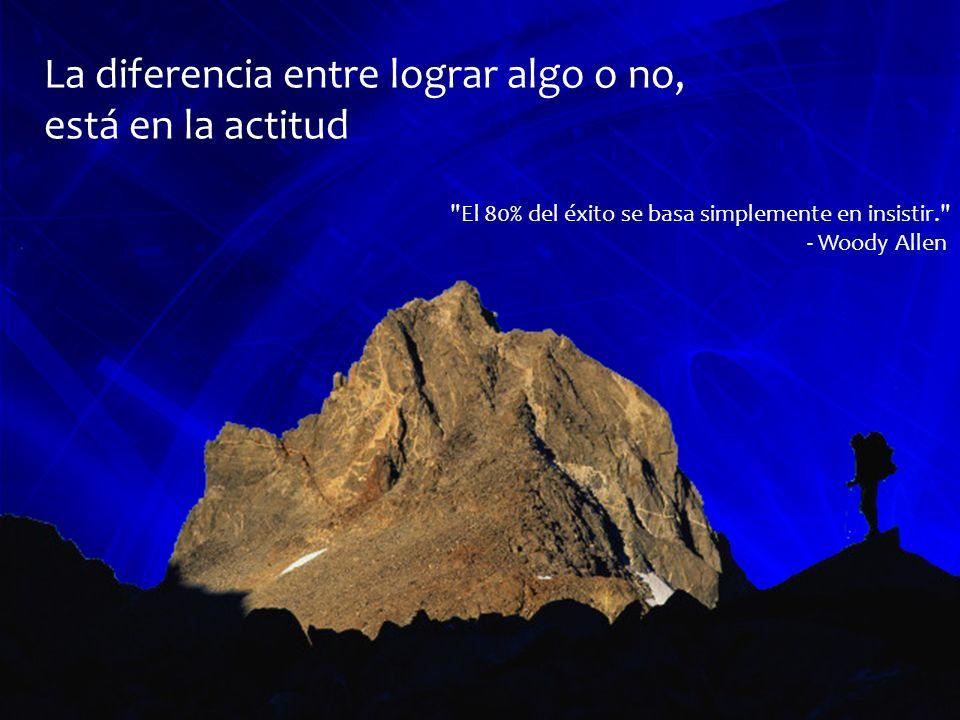La diferencia entre lograr algo o no, está en la actitud