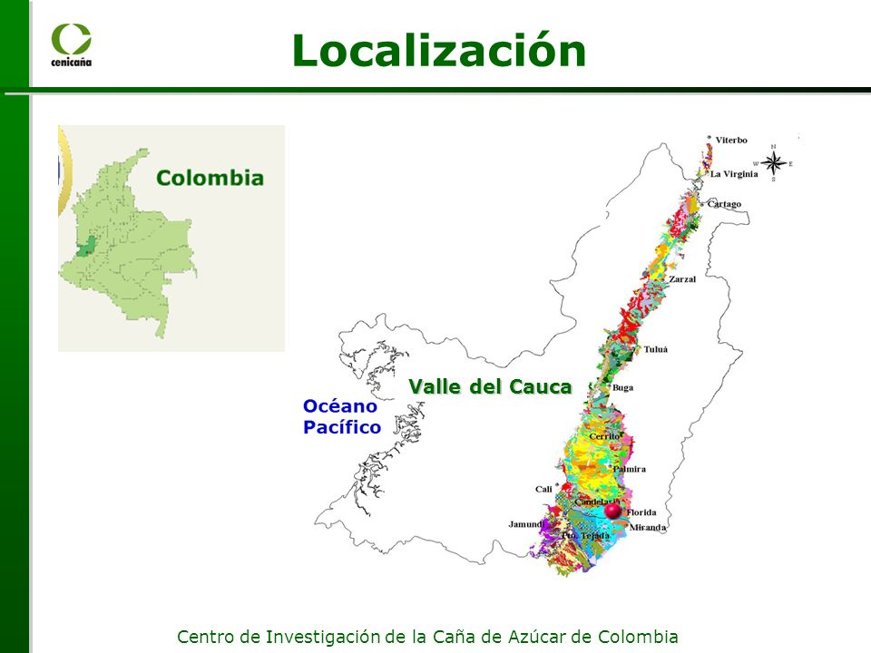 Localización Valle del Cauca