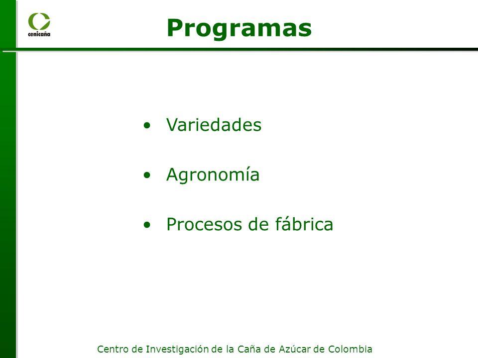 Programas Variedades Agronomía Procesos de fábrica