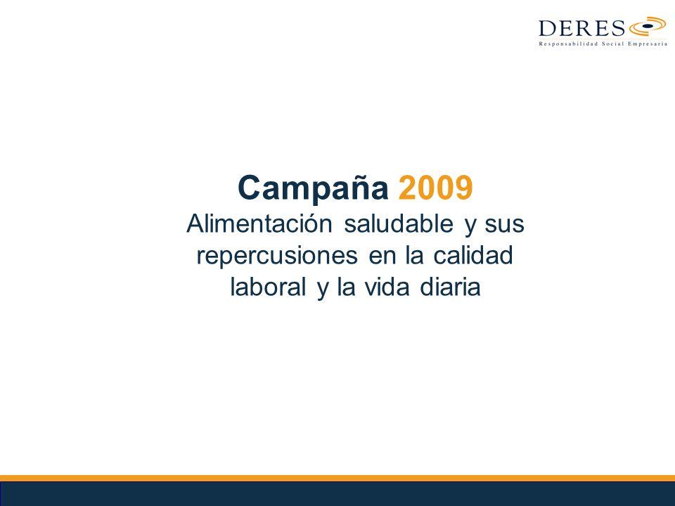 Campaña 2009 Alimentación saludable y sus repercusiones en la calidad laboral y la vida diaria