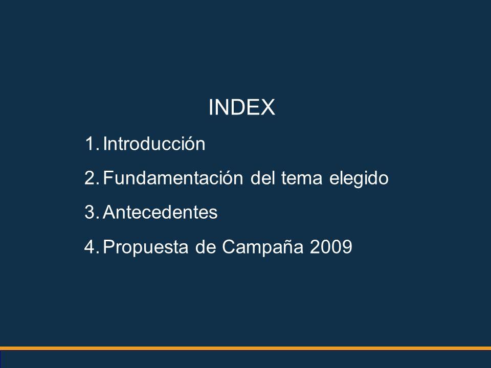 INDEX Introducción Fundamentación del tema elegido Antecedentes