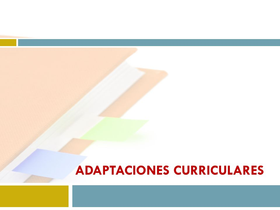 adaptaciones curriculares