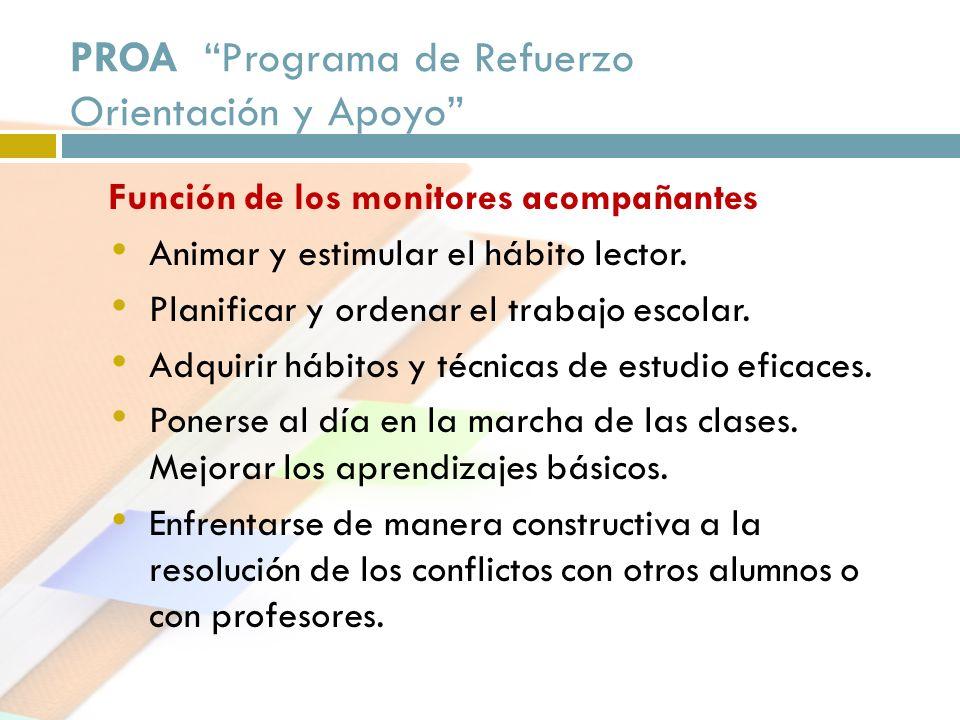 PROA Programa de Refuerzo Orientación y Apoyo