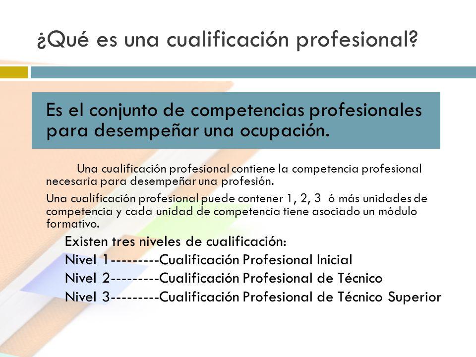 ¿Qué es una cualificación profesional