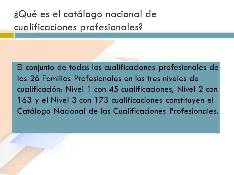 ¿Qué es el catálogo nacional de cualificaciones profesionales