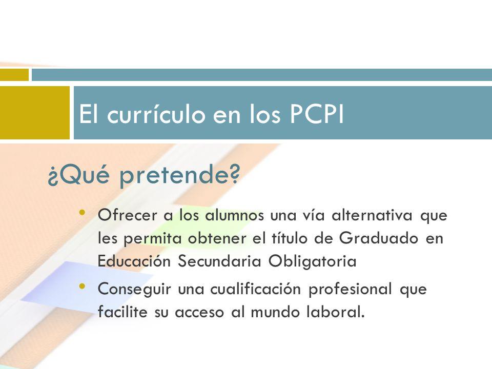 El currículo en los PCPI